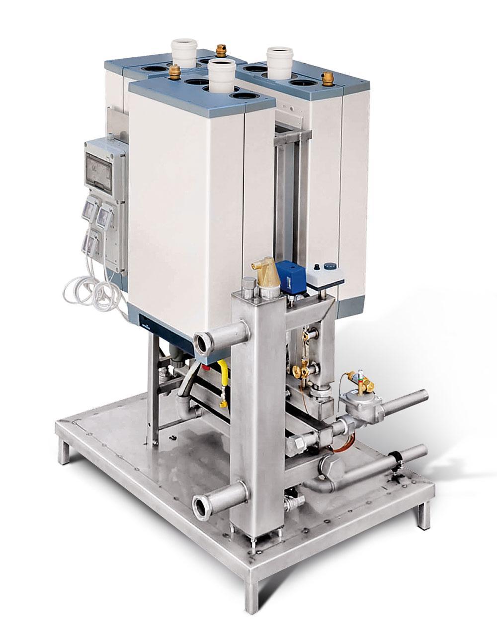 MODULO TERMICO Il MODULO TERMICO è realizzato assemblando due / tre generatori termici a condensazione INTERGAS tipo KOMPAKT SOLO HR 35/40