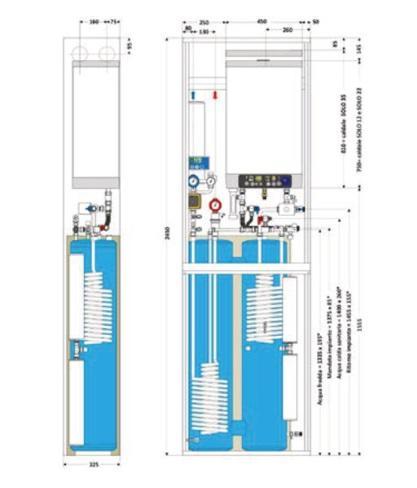 AQUA 140 SOL Sistema per riscaldamento e produzione di acqua calda sanitaria con reintegro da energia solare