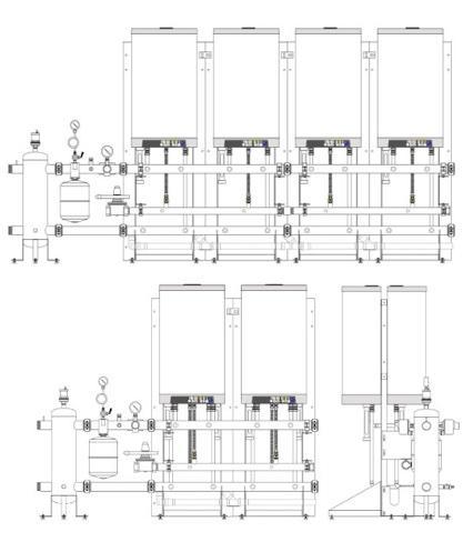 SISTEMI TERMICI MODULARI I sistemi termici modulari sono realizzati assemblando due/sei generatori termici a condensazione INTERGAS tipo KOMPAKT SOLO HR 35/40